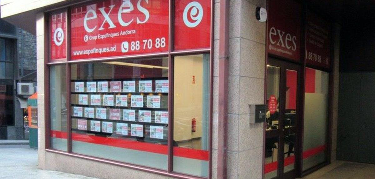 Grup Expofinques Exes Andorra, la immobiliària multi-gestió d'Andorra per la compra i venda del seu immoble.